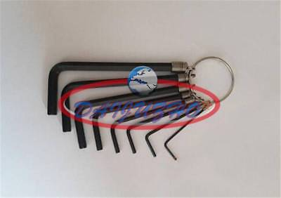 Hex Key Set 1.5mm-6mm Metric Hand Tool Kit Key Chain UL 8 In 1 Allen Wrench  New