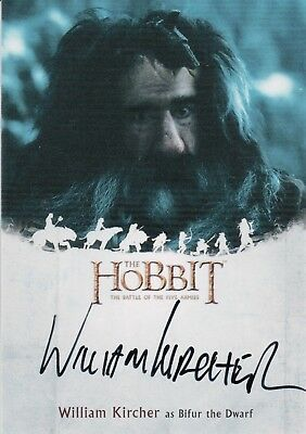 The Hobbit The Battle Of The Five Armies, William Kircher 'Bilfur' Autograph