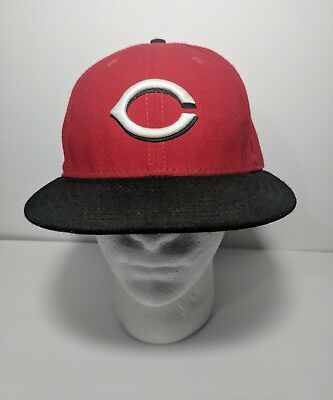 brand new 29b6a e0a3e ... france new era cincinnati reds road 59fifty fitted hat red black mlb cap  baseball afbf5 d4e0c