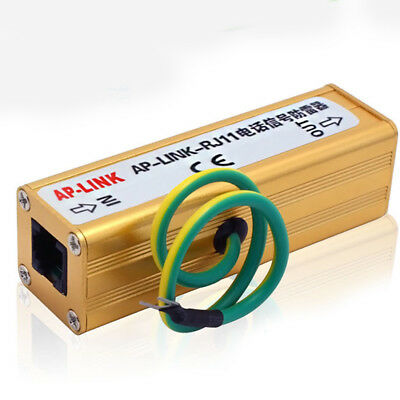 Protector Small Surge Thunder Arrester RJ11 Telephone Avoid Interference Useful