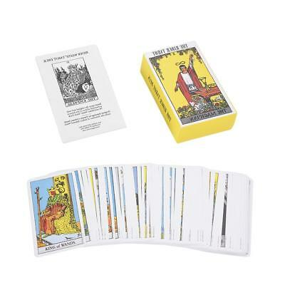 78pcs Tarot Cards Deck High Quality Vintage with Colorful Card Box Game 11*6 cm