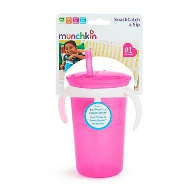Munchkin SnackCatch & Sip 2-in-1 Snack Catcher and 2 Piece Spill-Proof Cup