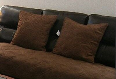 (50cm  x 50cm (cushion case ), Chocolate Brown) - Set of 2 Brown Large Size
