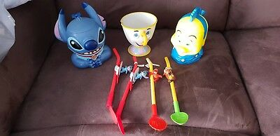 Disney On Ice Collector Cups Stitch,chip And Flounder