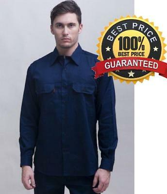 100% Cotton Drill Work shirt, Long or Short Sleeve, Normal or Light weight