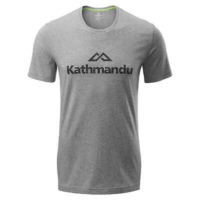 NEW Kathmandu Mens Recycolor 100% Cotton Casual Regular Fit Printed T-Shirt Dark