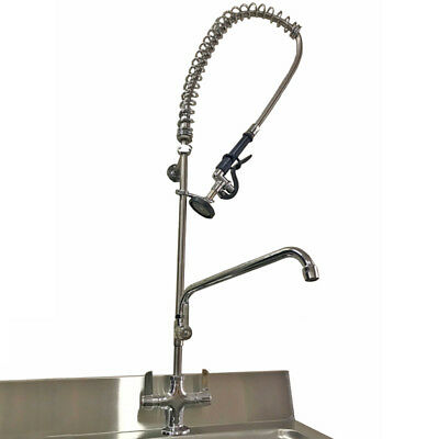 Commercial Kitchen Pre Rinse Arm With Trigger Spray Plus Add On Faucet - Tap