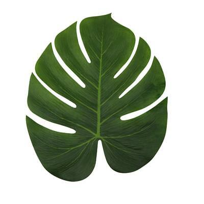 LJDJ Tropical Leaves Palm - Set of 36 - Large 13.8 inch Artificial Silk Fabric