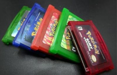 Pokemen Games Sapphire, Emerald, FireRed, LeafGreen, Ruby GBA Gameboy Advance