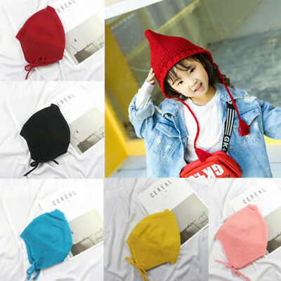 AU Stock Baby Hat Pom Pom Bobble Winter Knitted Chin Tie And Ear Flaps Boy Girls
