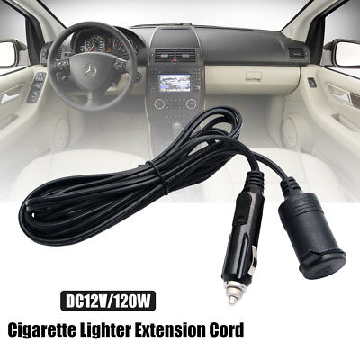 3M Car Cigarette Lighter Socket Extension Cord Power Cable Lead Fused Plug UK