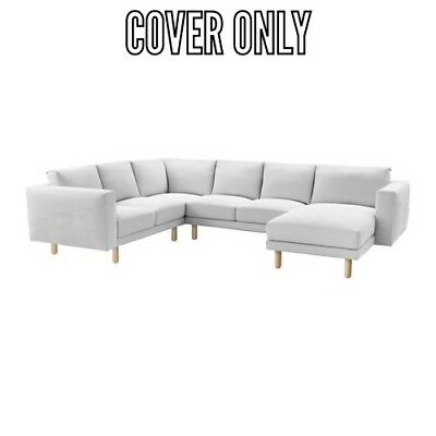 IKEA COVER SLIPCOVER for NORSBORG 5 SEAT SECTIONAL SOFA FINNSTA ...