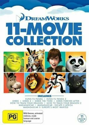 Dreamworks 11 Movie Collection Kung Fu Panda, Madagascar, How To Train Your