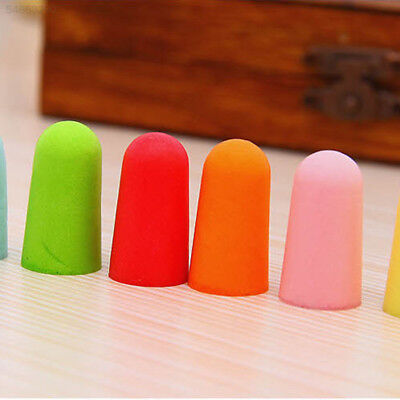 9272 Cute 1Pair Colour Memory Ear Sleep Travel Plane Earplugs Noise Reducer Hot