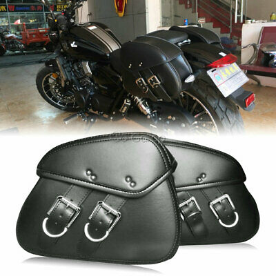 Pair Motorcycle Side Saddlebag Fit Honda Shadow Spirit VT 700 750 1100 VTX 1300