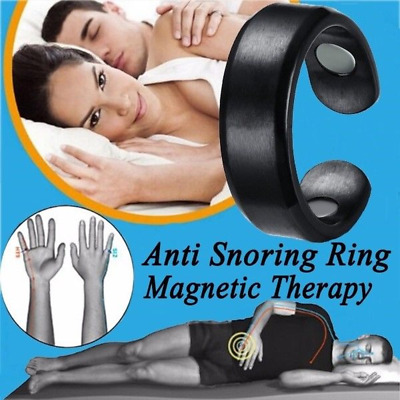 Anti Snore Ring Magnetic Therapy Acupressure Treatment Against Snoring Stopper
