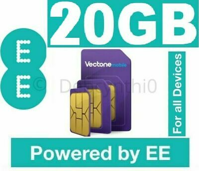 EE Mobile Vectone 100GB Unlimited Data SIM for Unlock Mobiles iPad Dongle Tablet