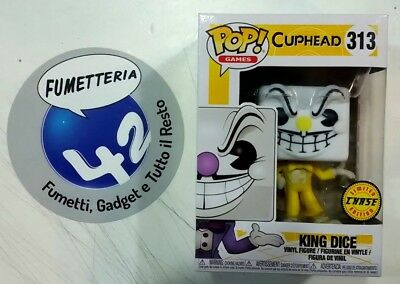 Funko Pop! Vinyl Figure Cuphead Limited CHASE Edition King Dice 313 Giallo