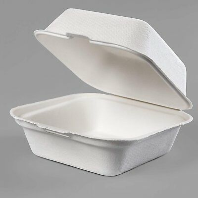 California Containers - Take Out Boxes Clamshell Hinged Biodegradable To Go Food