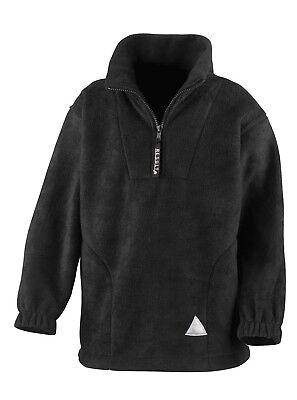 (4-6, Black) - Result Kids/Youths Zip Neck Active Fleece. Shipping Included
