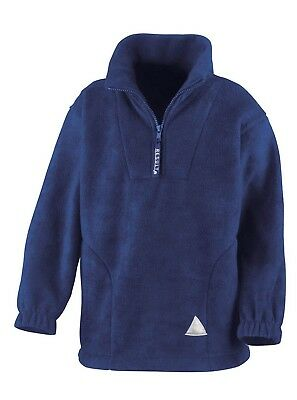 (10-12, Royal) - Result Kids/Youths Zip Neck Active Fleece. Free Delivery