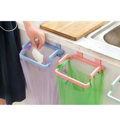 Hanging Kitchen Cabinet Door Trash Rack Storage Bin Rubbish Bags Holder Hanger
