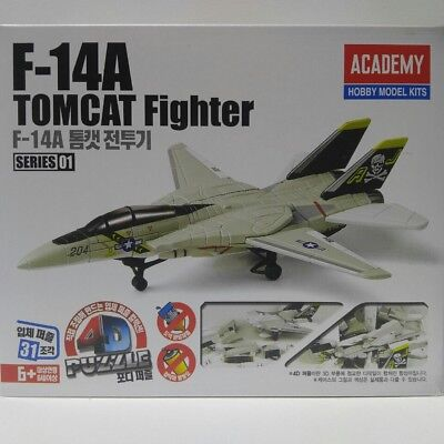 Academy Plastic Model Kit 4D Puzzle F-14A Tomcat Fighter 80147