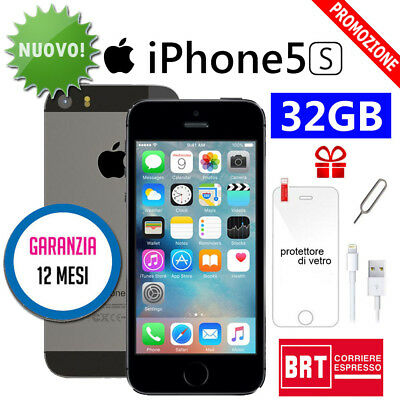 Nuovo Apple Iphone 5S 32Gb Nero Grey Ios + Accessorie + Garanzia 12 Mesi It