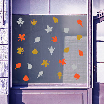 Autumn Leaves Sign Retail Vinyls Shop Window Display Wall Decals Stickers B26