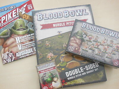 Blood Bowl Nurgles Rotters Bundle: Figuren, Karten, Spielfeld + Spike Magazin 3
