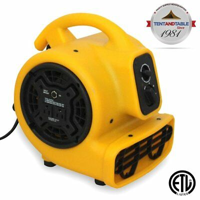 1/5 Horsepower Zoom Centrifugal Floor Dryer, Air Mover Commercial Quality Carpet