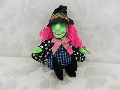 Ty Beanie Baby Scary Witch Pink Hair 2000 Retired Halloween