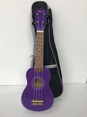 Purple Beginner Soprano Ukulele With Padded Bag