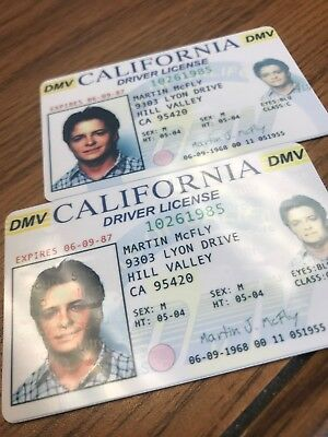 Back to the Future - Fake Drivers License Prop Marty McFly Novelty HIGH QUALITY