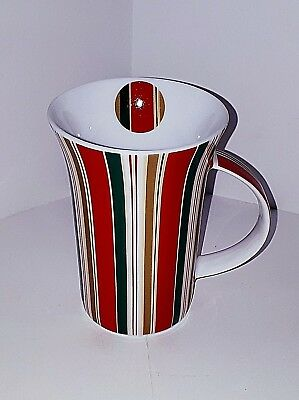 "Maxwell & Williams Striped Slender Porcelain ""christmas"" Mug/cup"