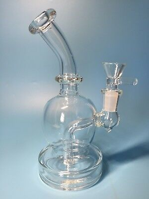 6.5'' Clear Water bongs glass bong waist water pipe tobacco glass pipes hookahs