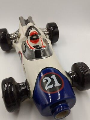 1970 Ezra Brooks Speedway Indy Race Car #21 Whiskey Decanter Heritage China