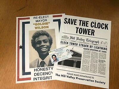 Re Elect Mayor Goldie Wilson Save Clock Tower Marty McFly License Back To Future