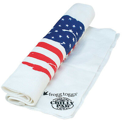 (White w|US Flag) - Frogg Toggs The Original Chilly Pad Cooling Towel