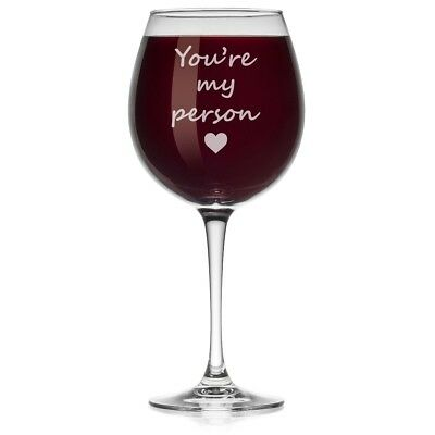 (Large Stemmed, 590ml) - Wine Glass You're My Person (Large Stemmed, 590ml)