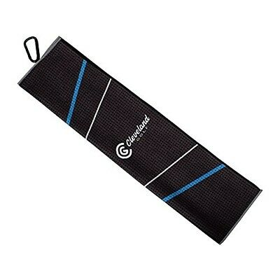 Cleveland Golf Male Cg Towel 16x21, Black/Blue/Grey. Shipping Included