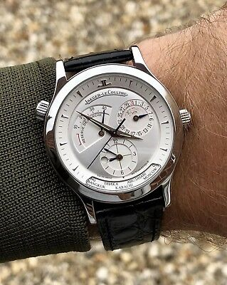 Jaeger Lecoultre Master Geographic Steel Automatic 142.8.92 Power Reserve 42hrs