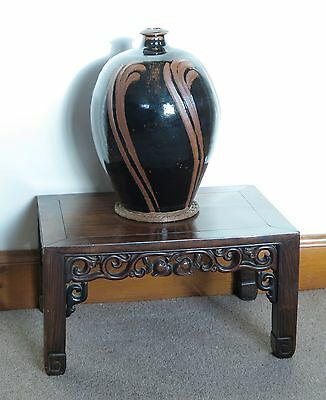 19th century carved Chinese Qing Dynasty Hongmu / Jichimu wood Kang table