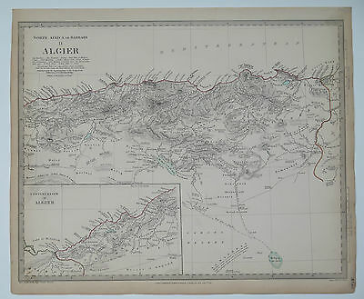 Original antique SDUK Map No.115 North Africa sheet II Algier. Published 1834