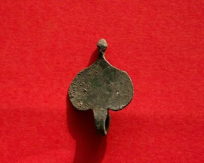 Ancient Roman Bronze Amulet Silver-plated 1394H