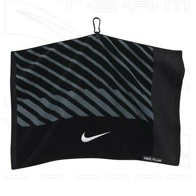 (Black/White/Dark Grey) - Nike Golf- Face/Club Jacquard Towel. Best Price