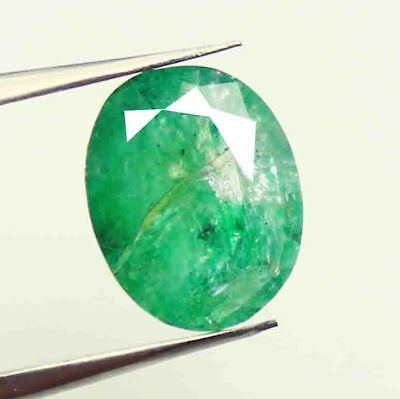 7.05 Ct Certified Natural Colombia Oval Cut Green Emerald Gems For Ring AM1061