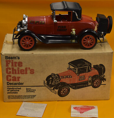 Jim Beam Fire Chiefs Car 1928 Model A Decanter Really Nice in Box w/ inserts