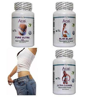 Acai Pure Cleanse Fat Burner Weight Loss Diet Pills Slimming Tablet & Oxy Detox