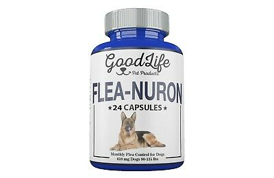 2 YEAR SUPPLY Monthly Flea Control DOGS 90-135 Lbs. 615 Mg GoodLife 24 Capsules